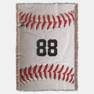 Baseballsportar med personlig numrerar filten mysfilt