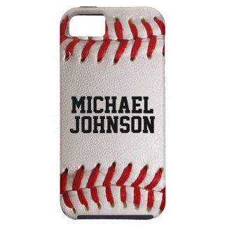 Baseballsportstruktur med personlignamn iPhone 5 Case-Mate skydd