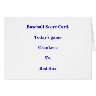 Baseballställningkort Hälsningskort