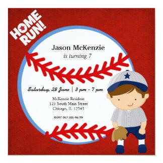 Baseballuteman Fyrkantigt 13,3 Cm Inbjudningskort