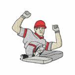 Basebollspelare Broderade Munkjackor