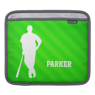 Basebollspelare; Neongröntrandar iPad Sleeve