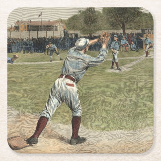 Basebollspelare som ut kastas på andra basen underlägg papper kvadrat