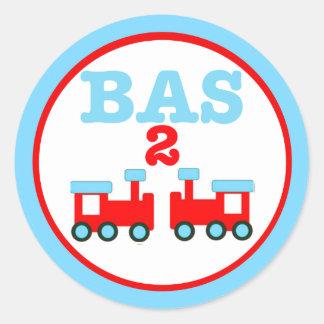 Basen är två med tåg runt klistermärke