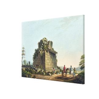 Basera av en kolossal kolonn nära Syracuse, pläter Canvastryck