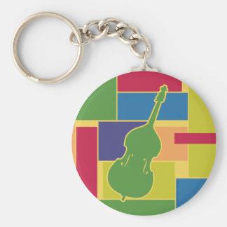 Basfiol Colorblocks Keychain Rund Nyckelring