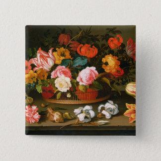 Basket av blommor, 1625 standard kanpp fyrkantig 5.1 cm