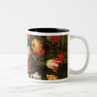 Basket av blommor, 1625 Två-Tonad mugg
