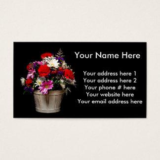 Basket av blommor visitkort