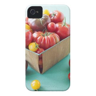 Basket av Heirloomtomater iPhone 4 Cases