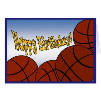 Basket - grattis på födelsedagen från den största hälsningskort