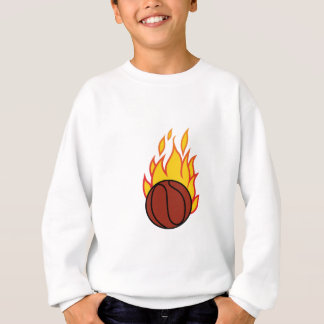 Basket med flammar t shirt