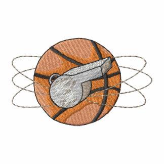 Basket och vissling broderade polo tröjor