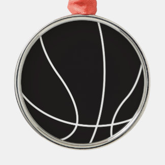 Basket Rund Silverfärgad Julgransprydnad