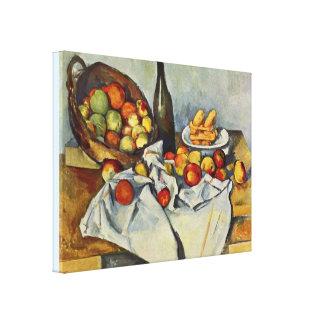 Basketen av äpplen av Paul Cezanne Canvastryck