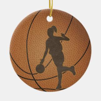 Basketflickaprydnad Julgransprydnad Keramik