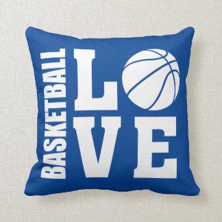 Basketkärlekblått Kudde