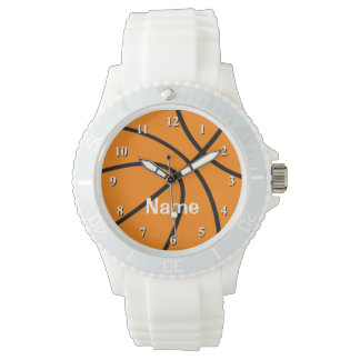 Basketklocka med personalizable namn armbandsur