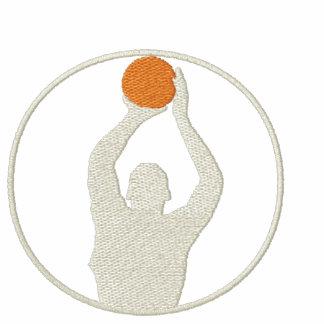 Basketkvinnor broderade långärmadT-tröja
