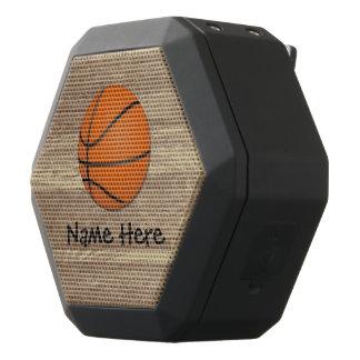 Basketorange/brunt för personlig känd svart bluetooth högtalare