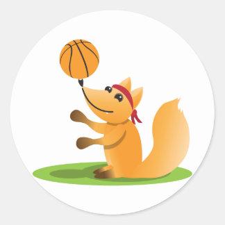 Basketräv Runt Klistermärke