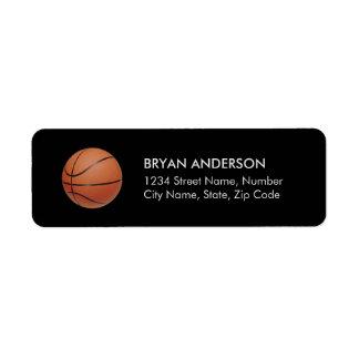 Basketreturadressetikett Returadress Etikett
