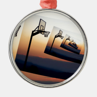 BasketringSilhouette Rund Silverfärgad Julgransprydnad