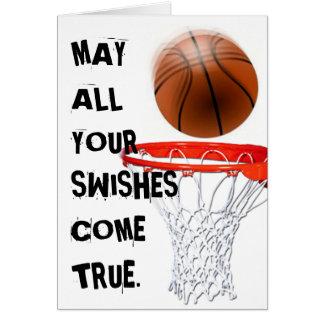 Basketspelare Hälsningskort