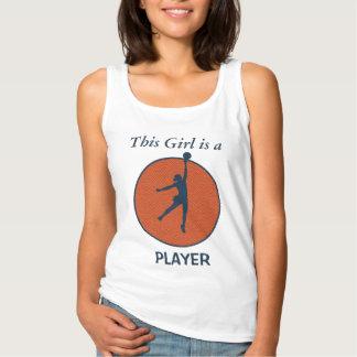Basketspelareflicka Linne