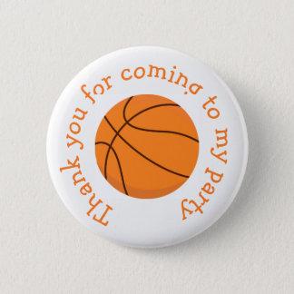 Basketsportorangen 'tackar dig för coming standard knapp rund 5.7 cm