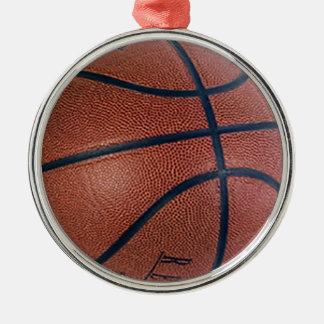 Basketvärldsstjärna Rund Silverfärgad Julgransprydnad