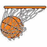 basketwooshboll i netto vektorillustration cut outs
