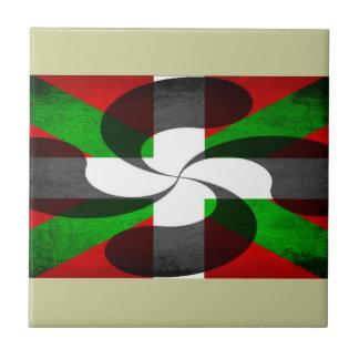 Baskisk flagga och kor kakel