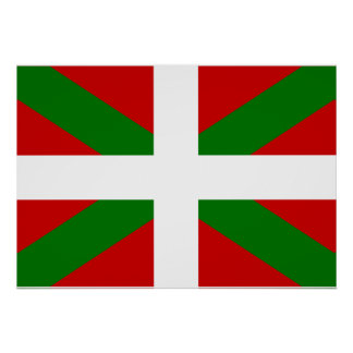 Baskisk flagga poster