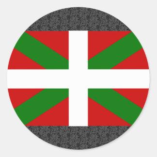 Baskisk flagga runt klistermärke