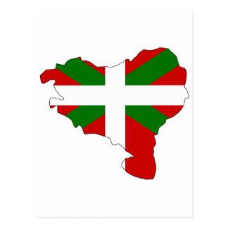 Baskisk flaggakarta vykort