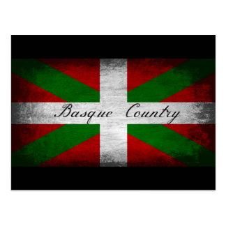 Baskiskt land bedrövad flagga vykort