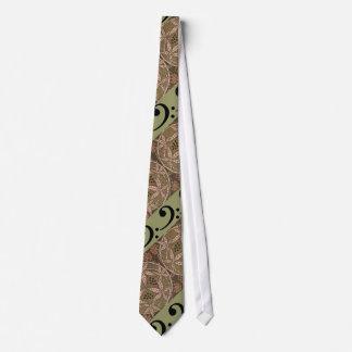 Basklav och art nouveau mönstrad Tie Slips