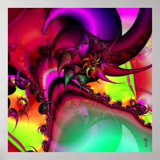 Bassäng av det spiral trycket för konst för kungva poster