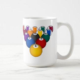 Bassäng: Billiardbollar: Biljard: Kaffemugg