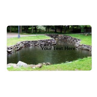 Bassäng för Letchworth delstatsparkvatten Fraktsedel