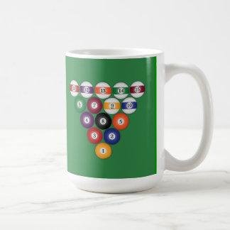 Bassängbollar/biljard: Kaffe koppar