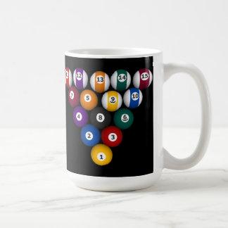 Bassängbollar: Biljard: Kaffemugg: Bassängbollar Vit Mugg