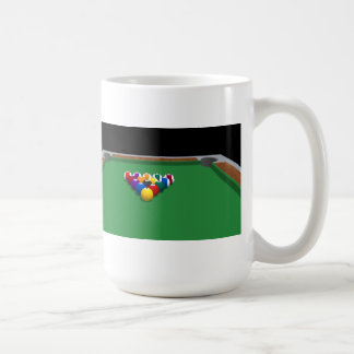 Bassängbollar på bord: 3D modellerar: Kaffemugg