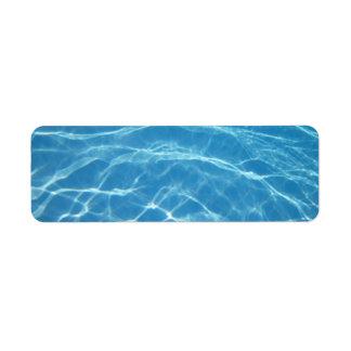 bassängvattenAvery etikett Returadress Etikett