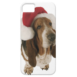 Bassethund i den Santa hatten Barely There iPhone 5 Fodral