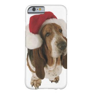 Bassethund i den Santa hatten Barely There iPhone 6 Fodral