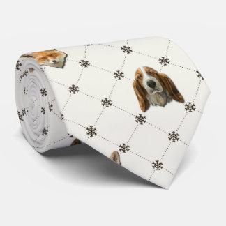 Bassethund & räv slips