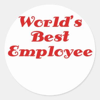 Bäst anställd för världar runt klistermärke