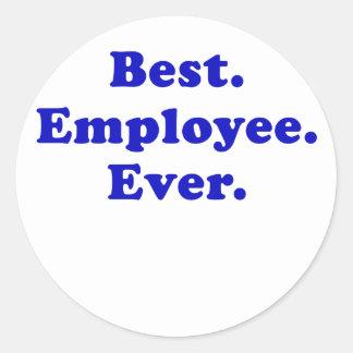 Bäst anställd någonsin runt klistermärke